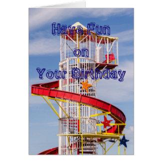 Ha det roliga födelsedagkortet hälsningskort