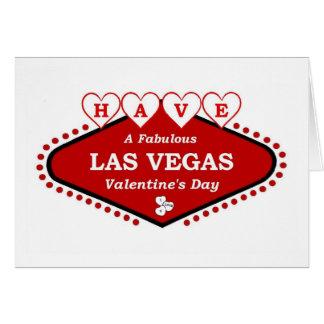 HA det sagolika en Las Vegas valentin kortet för Hälsningskort