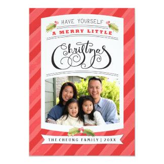Ha dig glada lite kort för ett julfoto 12,7 x 17,8 cm inbjudningskort