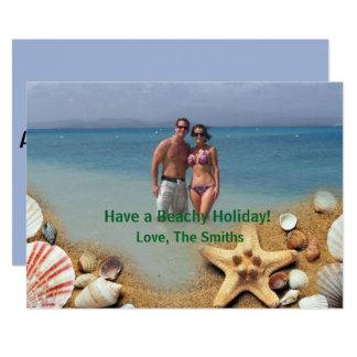 Ha en Beachy helgdag! | tropisk julkort 12,7 X 17,8 Cm Inbjudningskort