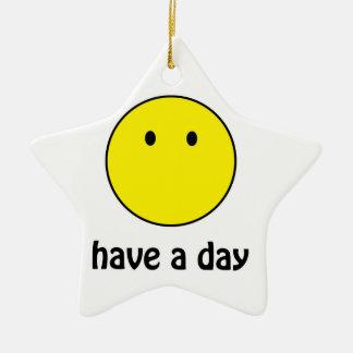 Ha en dag! julgransprydnad keramik