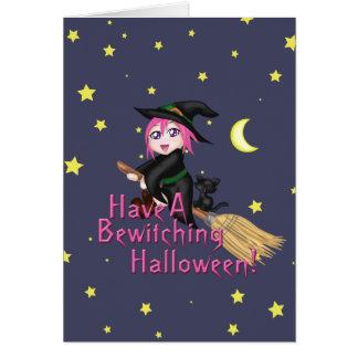 Ha en förtrollande Halloween! Hälsningskort