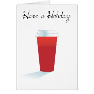 Ha en Holiday. Hälsningskort