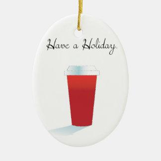 Ha en Holiday. Julgransprydnad Keramik