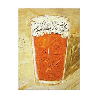 Ha en öl! Slågen in kanfas för akryl målning Canvastryck