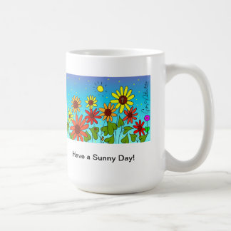 Ha en solig dagkaffemugg kaffemugg