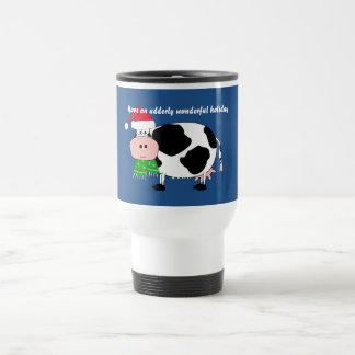 Ha en underbar travel mug för helgdagjulko rostfritt stål resemugg