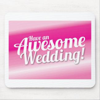 Ha ett enormt bröllop musmattor