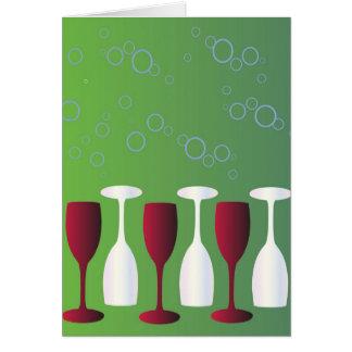 Ha ett exponeringsglas av vin! OBS kort