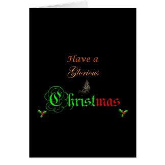 Ha ett härligt julhälsningkort hälsningskort