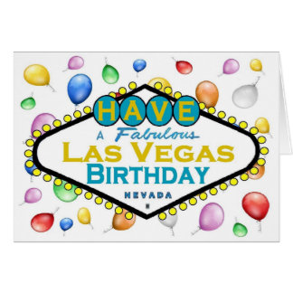 Ha ett sagolikt Las Vegas födelsedagkort! Hälsningskort