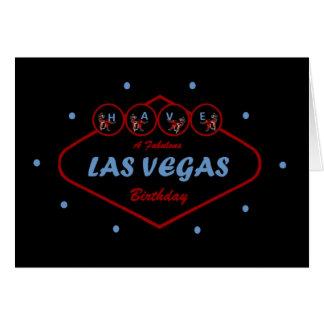 HA ett sagolikt Las Vegas födelsedagkort Hälsningskort