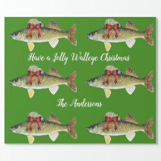 """""""Ha Jolly jul för en Walleye """", Presentpapper"""