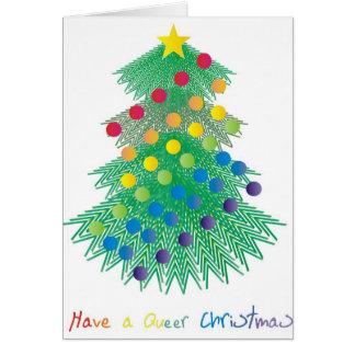 Ha konstig jul hälsnings kort