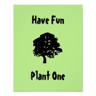 Ha roligt, plantera en affisch