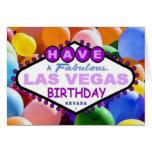 Ha sagolika ballonger för en Las Vegas födelsedag Hälsningskort