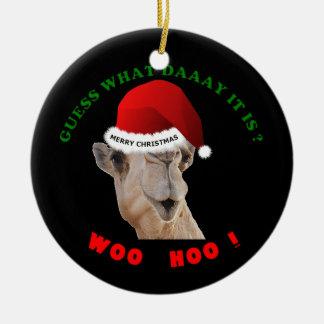 Ha sex med kamlet för dagjulprydnaden julgransprydnad keramik