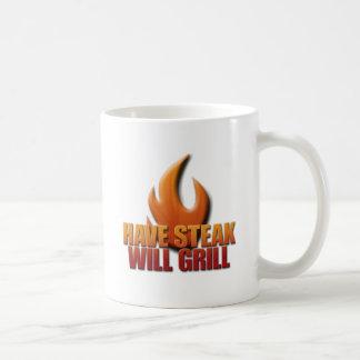 Ha Steak att ska grillar Kaffemugg