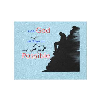 Ha tro och tro canvastryck