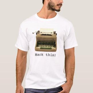 """""""Hacka denna"""" skrivmaskinsT-tröja Tröjor"""
