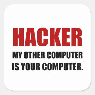 Hacker annan din dator fyrkantigt klistermärke