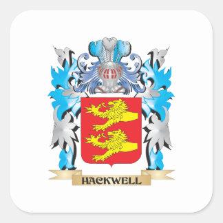 Hackwell vapensköld - familjvapensköld fyrkantigt klistermärke