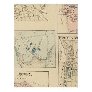 Haddonfield Gloucester stad, Burlington Vykort