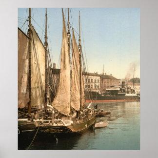 Hafenstrasse av Köpenhamnen, Danmark Poster