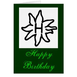 Haflinger hälsningkort - grattis på födelsedagen hälsningskort