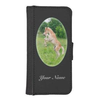 Haflinger häst gulligt fostra för föl iPhone SE/5/5s plånboksfodral