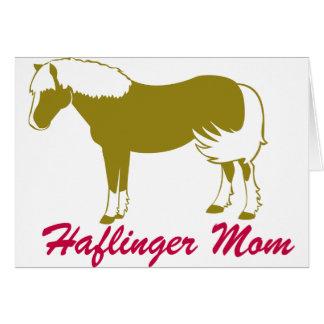 Haflinger mamma hälsningskort