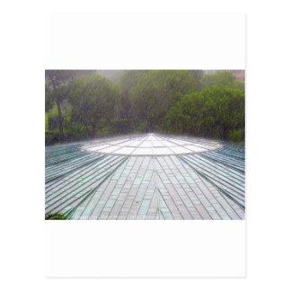 Häftigt regn - Monte - carlo Vykort