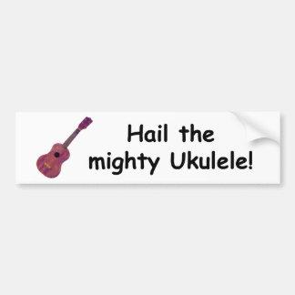 Hagel den väldiga ukulelen! bildekal