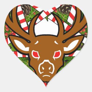 Hagel Santa Hjärtformat Klistermärke