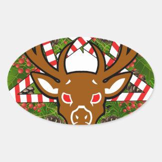 Hagel Santa Ovalt Klistermärke