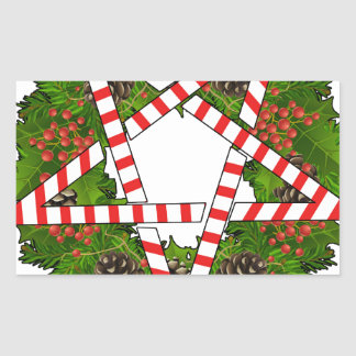 Hagel Santa Rektangulärt Klistermärke