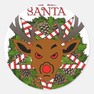 Hagel Santa Runt Klistermärke