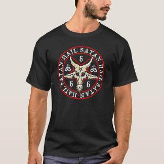 """Hagel Satan"" Baphomet i PentagramPagan T Shirts"