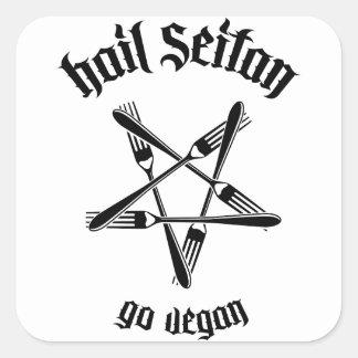 Hagel Seitan 1,1 (svarten) Fyrkantigt Klistermärke