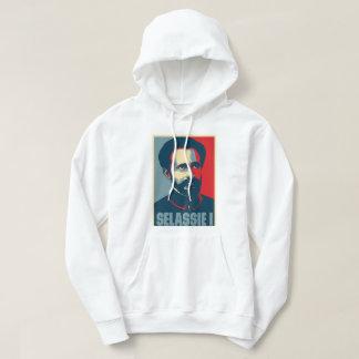 Haile Selassie mig vittröja Sweatshirt Med Luva