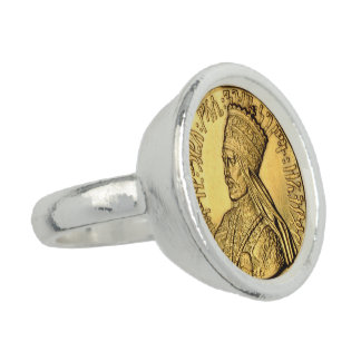 Haile Selassie Rasta silverring Ringar