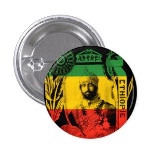 Haile Selassie som hans imperialistiska majestät Mini Knapp Rund 3.2 Cm