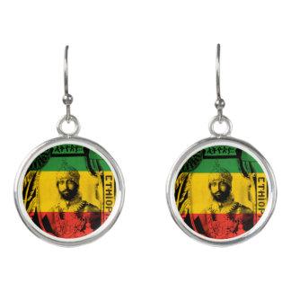 Haile Selassie tappar stickan pläterade rastaen Örhängen