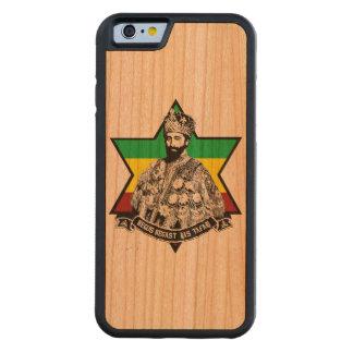 Haile Selassie Wood IPhone 6 Phonecase Carved Körsbär iPhone 6 Bumper Skal