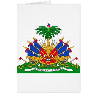 Haiti vapensköld hälsningskort