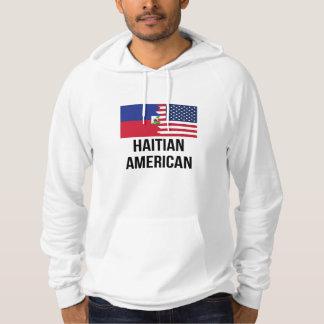Haitier amerikanska flaggan tröja med luva