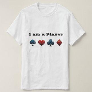 Haj för pokerspelarekort t-shirt