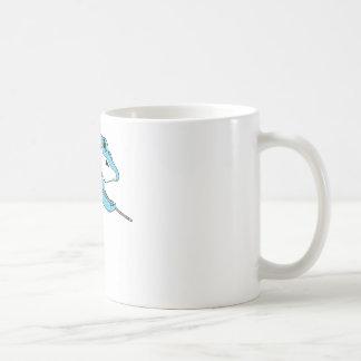 Haj som leker biljard kaffemugg