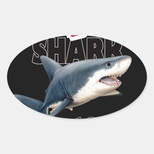 Hajfilmen Ovalt Klistermärke