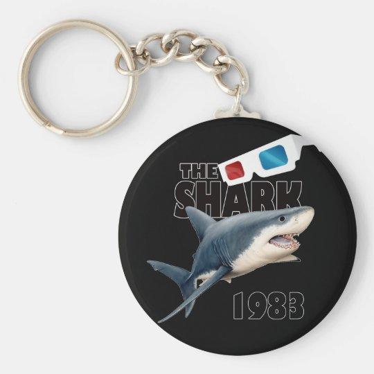 Hajfilmen Rund Nyckelring